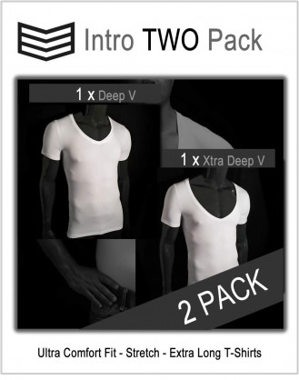 Intro 3V Pack Deep V and Xtra Deep V shirts