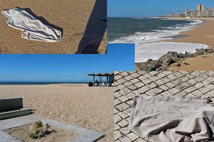 Productie van nieuwe kleur 3V Underwear op strand in Portugal